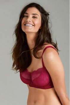 e7146103ecd Womens Next Red Lizzie DD+ Non-Padded Embroidered Balcony Bra - Red