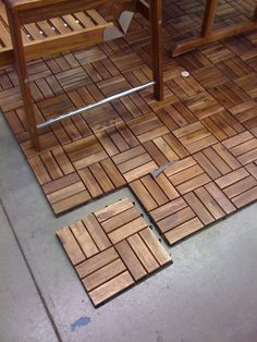 Decor Your Outdoor Patio Using Interlocking Deck Tiles: Flooring Elegant Interlocking Wood Deck Tiles For Sophisticated Patio Or Terrace Decor