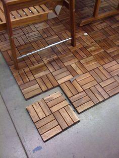 Decor Your Outdoor Patio Using Interlocking Deck Tiles: Flooring Elegant Interlocking Wood Deck Tiles For Sophisticated Patio Or Terrace Decor