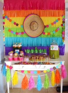 Fiesta Party Table from a Colorful Fiesta Birthday Party on Kara's Party Ideas   KarasPartyIdeas.com (33)