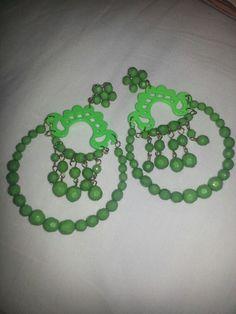 Big  green earrings ♥