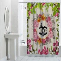 Chanel Logo Floral Custom Special Design Shower Curtain Flower