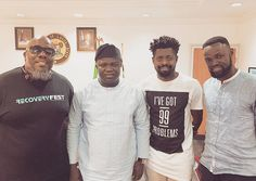 GOSSIP, GISTS, EVERYTHING UNLIMITED: Photo: Ambode Welcomes Basketmouth and Comedian Pe...