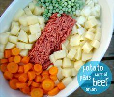 Baby food - Shepherd's pie  Sub sweet potatoes instead.