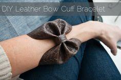 Createlive: DIY Leather Bow Bracelet (Homemake Christmas)