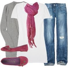 Gray Cashmere and Raspberry