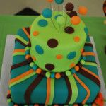 Mad Hatter Tea Party Baby Shower Cake by fortheloveofsugar.com