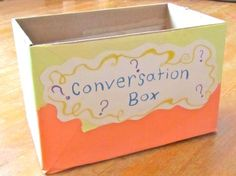 """Teaching Speaking in a Language Classroom: Creating a Conversation Box for your ESL or EFL Classroom"" love this idea!"