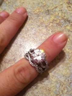 Vintage engagement ring set infinity cz 5 carats- YEA RIGHT! I want this but I think he'll have something to say about the $$$
