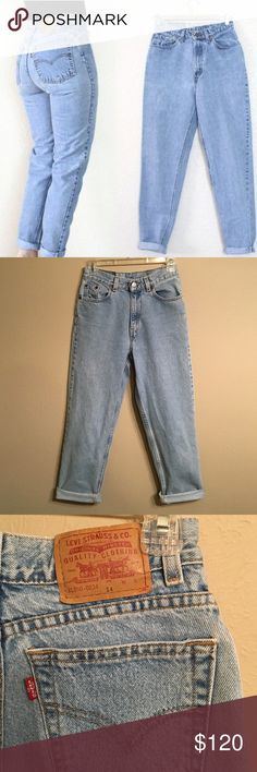 """RARE • Vintage Levi's high waisted mom jeans Levi's high waisted light wash mom jeans. Size 23/24. Tag says size 14. Serial number 31350-0234. Straight leg. Waist 12"""", inseam 27"""", rise 11"""", hips 17"""". Great vintage condition. 💋 Thinking about keeping them but will sell at the right price. Haven't found another pair this nice 😥 Levi's Jeans"""