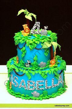 Jungle/Zoo Birthday Cake