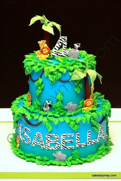 Jungle/Zoo Birthday Cake