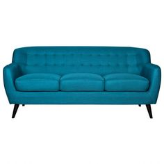 Addison Sofa - Petrol (What I would love in my living room, if my husband wasn't afraid of colour).