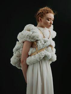 RUFFLE BOLERO Melissanthi Spei, MA Fashion, sculptural design, epic romance