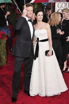 Livia Firth in Armani made from Recycled bottles