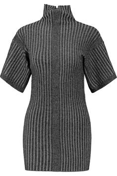 BY MALENE BIRGER Metallic ribbed-knit turtleneck top. #bymalenebirger #cloth #top