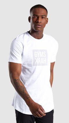 9d2c9a0b Gymshark Laundered Square Logo T-Shirt - White