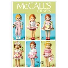 McCALLS CRAFTS M6573 ~ 18 inch Doll Clothes Sewing Pattern,$14.99