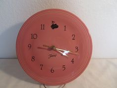 Classy Vintage Fiesta Wall Clock by thingsbybrinda on Etsy