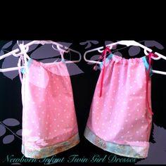 Twin Baby Girl Pillowcase dresses www.sweetpeacrochet.com