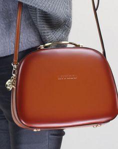 Leather handbag shoulder bag brown red for women leather crossbody bag