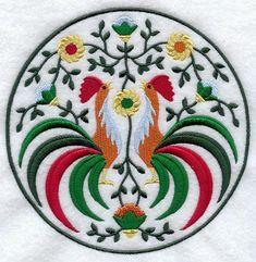 Polish Rooster Medallion  - Lg