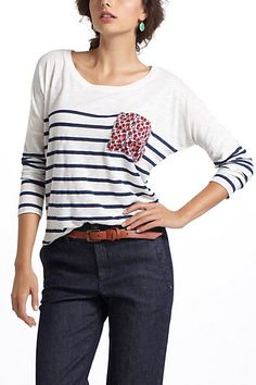 Totally obsessed with this tee. why?!?Repose Pocketed Henley #anthropologie