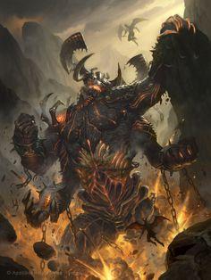 """Unleashed Demon - Regular"" by James Ryan (namesjames) | Legend of the Cryptids | #Fantasy #Demon #Giant"