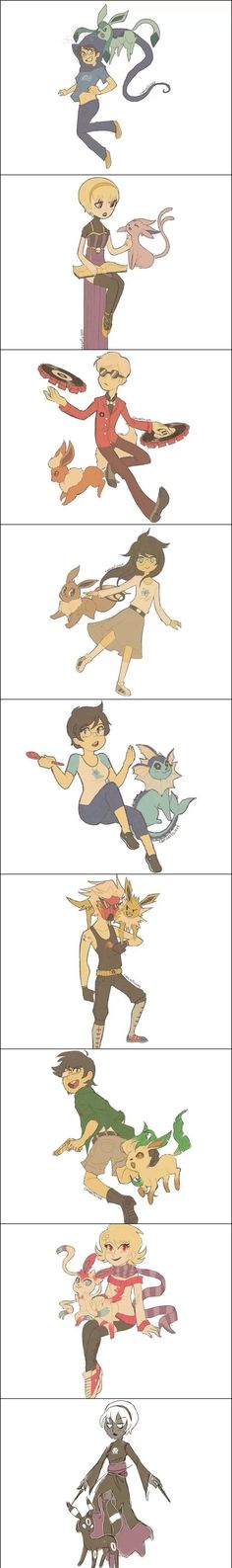 Homestuck beta and alpha kids and their eeveelutions. ^w^