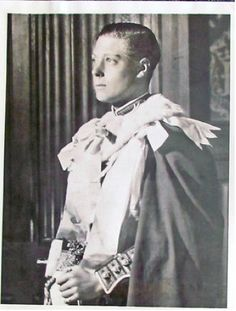 King Edward VIII, when Prince of Wales, in ceremonial robes, 1928. (From here).