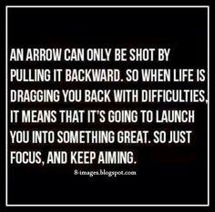 Arrow, shot, pulling, backward, life, dragging, back, difficulties, launch, great, focus, aiming,