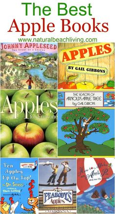 The Best Apple Books for Kids, paired with so many great apple activities…
