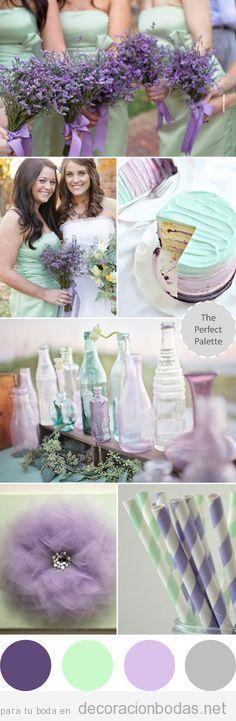 Ideas para decorar una boda en tonos lilas y lavanda