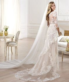 New Arrival Long Sleeved Boho Style Split Beach Lace Wedding Dress Size 6 22   eBay