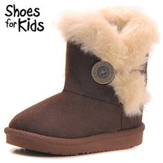 LAROK Girls Boys Warm Winter Flat Shoes Bailey Button Snow Boots(Toddler/Little Kid),NBB21,Coffee,33. Warm Tips: Use faster shipping way to ship our item, usually take about (1-3 weeks around) Delivery. Soft, flexible, hight quality Breathable Synthetic Leather shoe upper, Rubber sole. Suitable for winter snow days, very comfortable and stylish, great for kids everyday wear, keep the feet warm and comfortable all-day long. Faux Fur Linings, Warm & Confortable, Best CHRISTMAS Shoes Gift…
