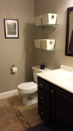 Tan Tile with Grey walls  For the Home  Pinterest  Walls Bathroom inspiration and House
