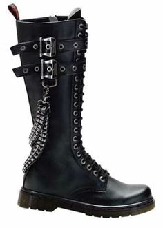 DISORDER-403 Black Pyramid Boots