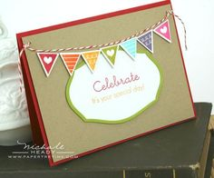 Celebration Banner Card by Nichole Heady for Papertrey Ink (June 2012)
