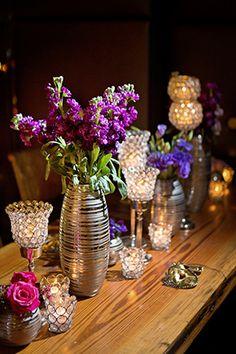 Purple wedding details. // Photo by : http://megphoto.com