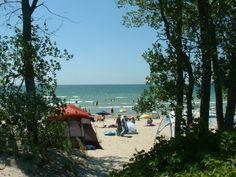 Outlet Beach Sandbanks Provincial Park in Prince Edward County, Ontario