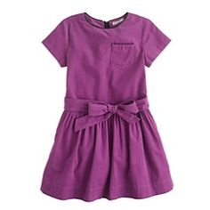 Girls' needle cord dress