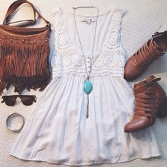 Fringe, lace, crochet, basically definition of bohemian~ Credit to owner