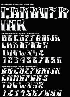 Font Creation by Joshua M. Smith, via Behance