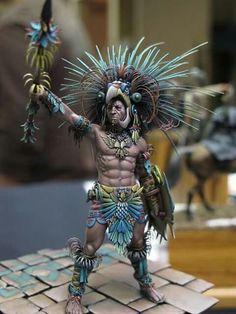 Greek Warrior, Aztec Warrior, Aztec Statues, Aztec Costume, Chicano Art, Chicano Tattoos, Native American Beauty, American History, Aztec Empire