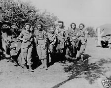 B&W Photo US Army Nurses in France 1944 WWII WW2 D-Day