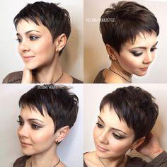 Super Short Hair, Short Grey Hair, Short Hair Cuts For Women, Short Hairstyles For Women, Pixie Haircut For Thick Hair, Short Pixie Haircuts, Pixie Hairstyles, Undercut Pixie Haircut, Trendy Haircuts