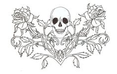 Gothic Fairy Coloring Pages - Bing Images. Funny as a henna Skull Coloring Pages, Fairy Coloring Pages, Printable Adult Coloring Pages, Coloring Pages To Print, Coloring Books, Fairy Wing Tattoos, Butterfly Tattoos, Flower Tattoos, Skull Tattoo Design