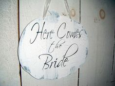 FALL WEDDING Here Comes the Bride Sign wedding by AndTheSignSays, $24.99