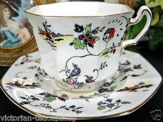 Radfords Fenton Birds Lighthouse Tea Cup and Saucer Duo