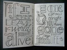 sketchbook  If I ever leave this world alive - Flogging Molly
